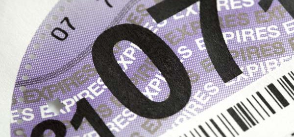UK car tax disk