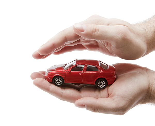 Small car in hands