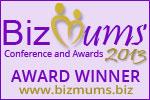 Biz Mums award banner