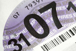 UK car tax disk