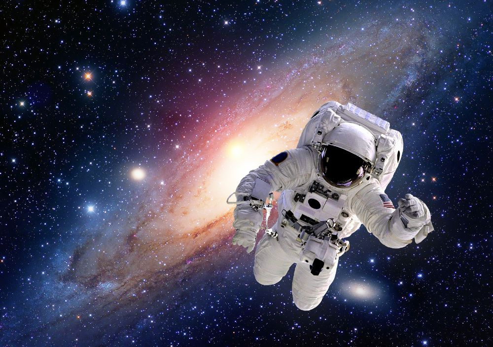 Astronaut spaceman suit outer space solar system people universe. Elements of this image furnished by NASA.