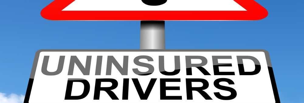 Uninsured drivers sign post