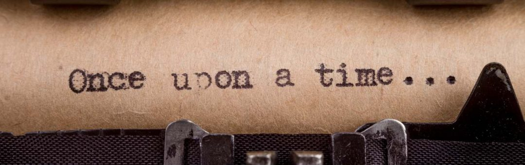 Once upon a time - typed words on a Vintage Typewriter