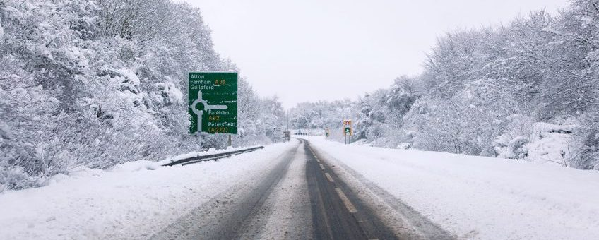 Icy and snowy road