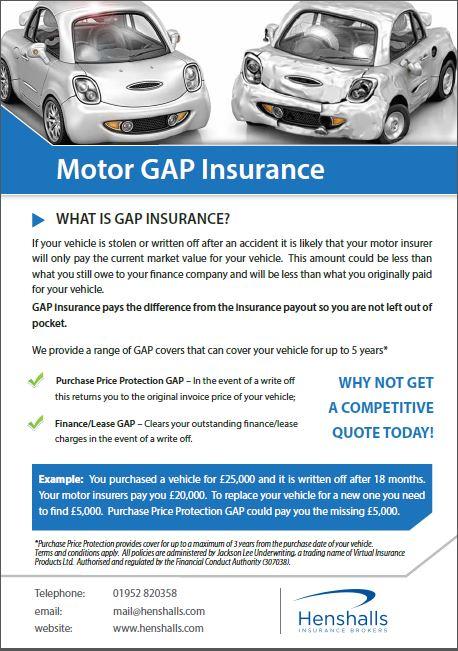 Gap Insurance – Henshalls Insurance Brokers